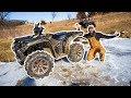 I Bought a GIANT ATV for My BACKYARD FARM!!! (He Fell Off)