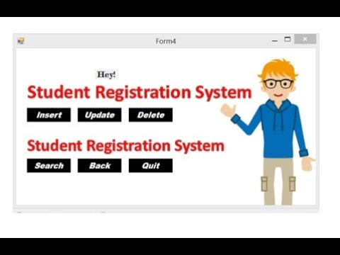 Simple Student Registration system project in C sharp   Insert   Update    Delete   Search