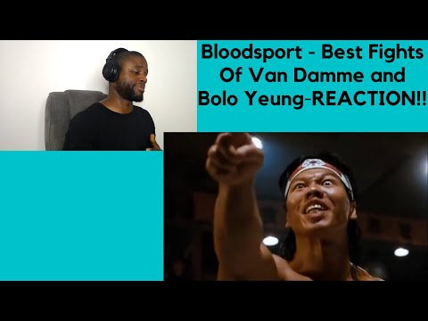 Bloodsport - Best Fights Of Van Damme And Bolo Yeung-REACTION!!!!