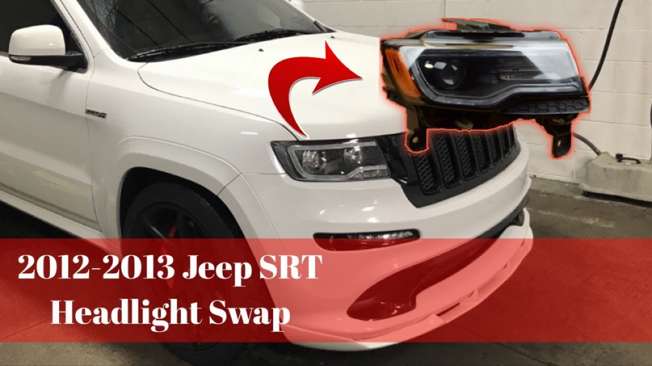 2012 2013 jeep grand cherokee srt hid to bi xenon headlight swap [ 1280 x 720 Pixel ]