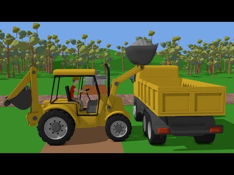 #Truck and Mini #Excavator with Hydraulic Hammer | Street Vehicles for Baby | Maszyny Budowlane Kids - Видео онлайн
