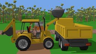 #Truck and Mini #Excavator with Hydraulic Hammer  Street Vehicles for Baby  Maszyny Budowlane Kids