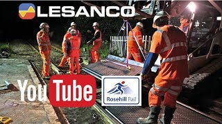 Lesanco viser installation af Rosehill Rail jernbaneoverkørsel