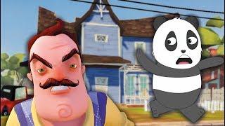 Panda Kötü Komşunun Evinden Kaçıyor - Hello Neighboor Türkçe