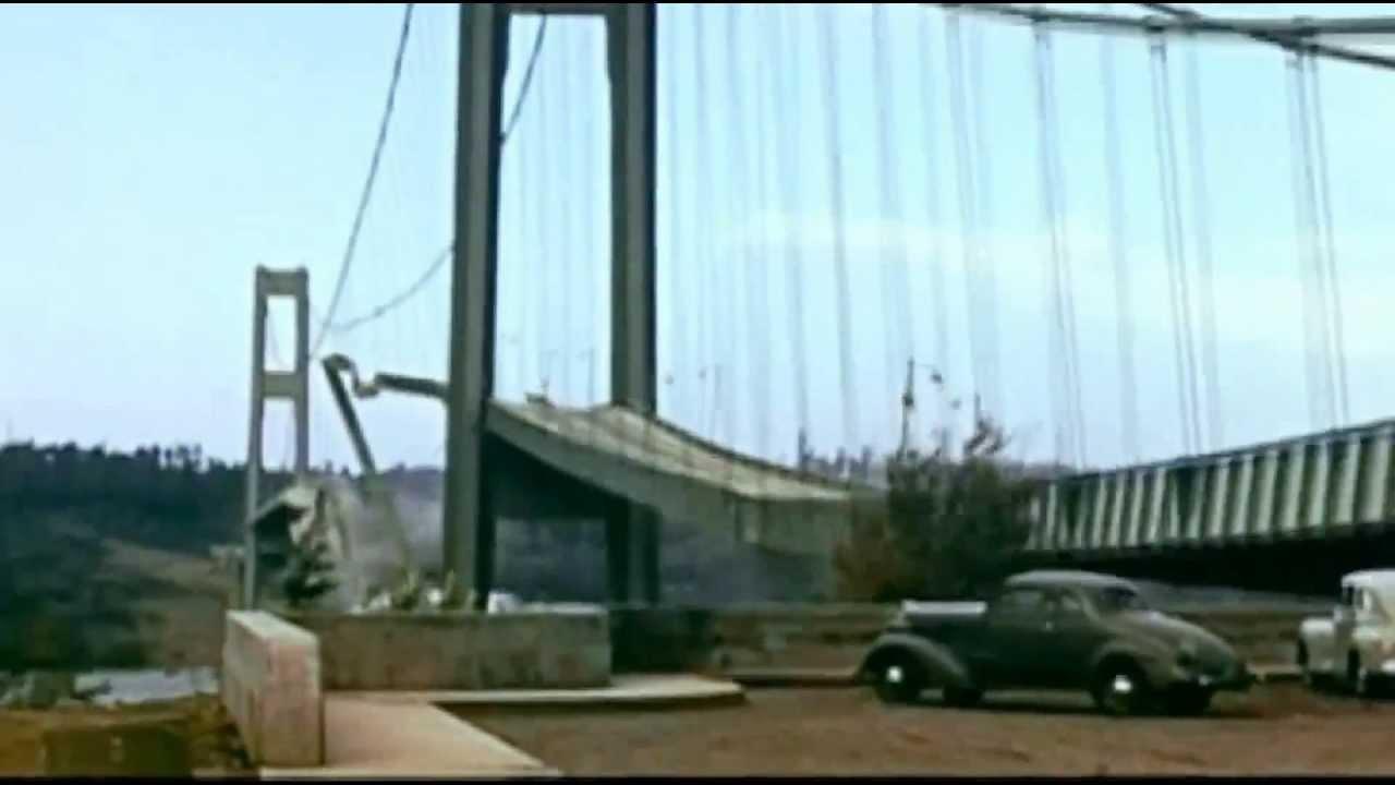 Tacoma Narrows Bridge Collapse. - YouTube