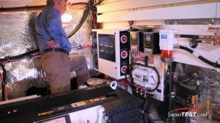Cruisers Yachts 48 Cantius 2011 Motoryacht  Inside Engine Room Review - By BoatTest.Com