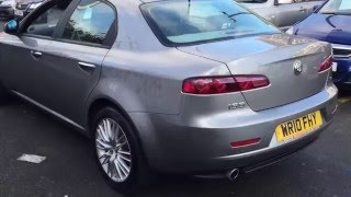 2010/10 Alfa Romeo 2.0 JTDM 159 Lusso finished in Metallic Grey @ Trade Right Cars Cardiff
