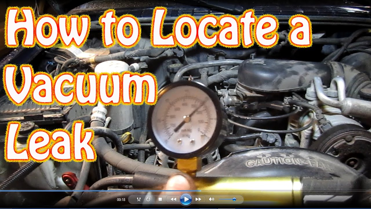 hight resolution of diy how to find a vacuum leak on your car truck suv locate a vacuum leak 4wd diagnostics youtube