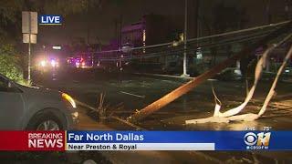 Tornado Causes Damage In Far North Dallas