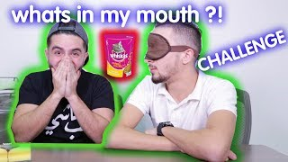 WHATS IN MY MOUTH CHALLENGE !? - تحدي شو اللي في فمي ؟