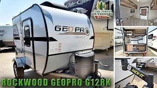 2018 SUPER LITE WEIGHT ROCKWOOD G12RK Geopro Teardrop Travel Trailer