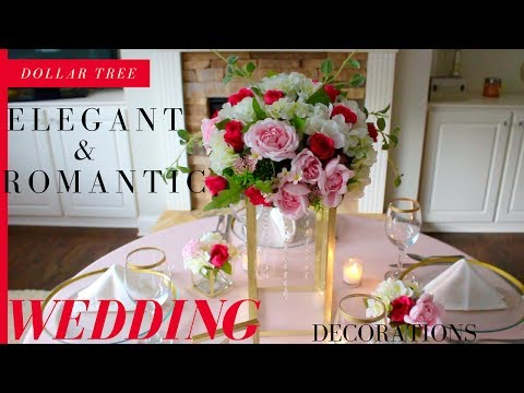 DIY Elegant & Romantic Wedding Decorations | Dollar Tree Wedding Decorations
