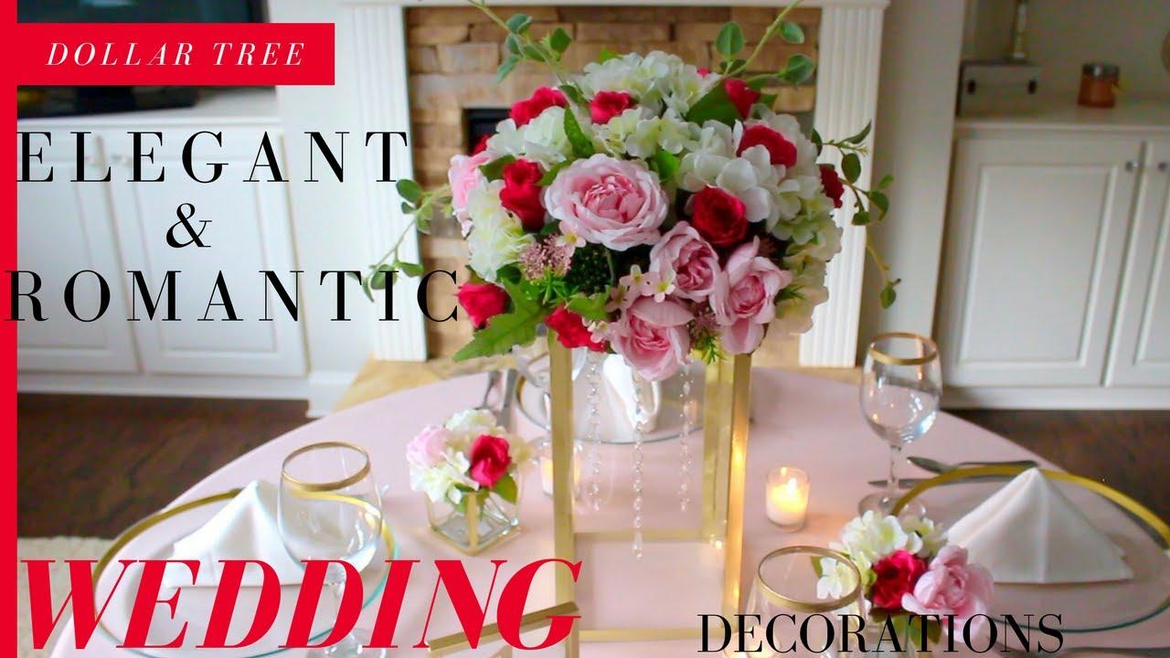 DIY Elegant & Romantic Wedding Decorations | Dollar Tree Wedding ...