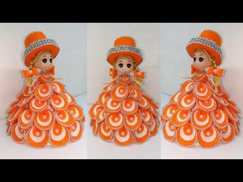 171) Ide Kreatif - how to decorate dolls using flannel || hias boneka || Doll decoration