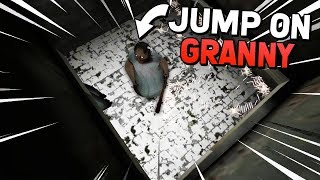 JUMP ON GRANNY WITH UNLIMITED TRANQ DARTS! (Granny Mobile 1.4 Update APK Mod Gameplay)
