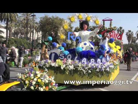 Sanremo in fiore  2014 la sfilata dei carri live 1° Giro