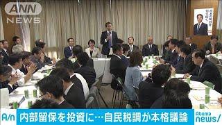自民党の税制調査会 本格的な議論をスタート(19/11/22)