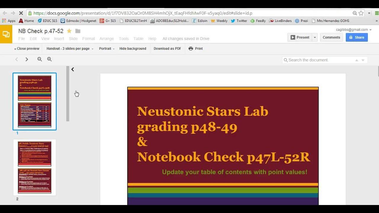 Google Presentation Printing A Slide Handout