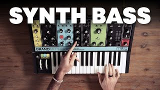 How to make bass sounds with a synth like Moog Grandmother