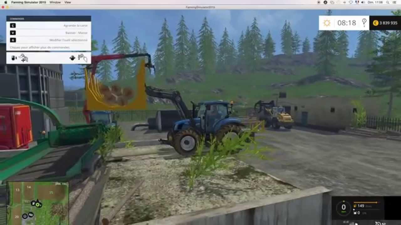 farming simulator 2015 plateforme de broyage bois table wood foresting chips gameplay mods. Black Bedroom Furniture Sets. Home Design Ideas
