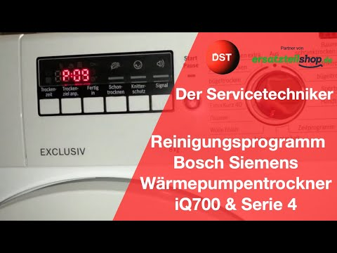 Fehler Behälter Leeren, Das Spülprogramm Bosch, Siemens Wärmepumpentrockner