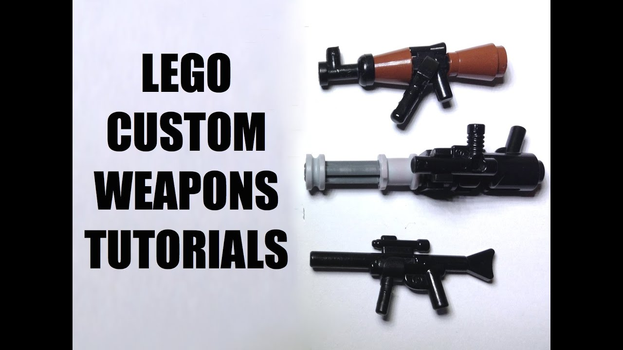 How to make weapons from Lego 85