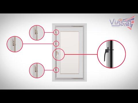 หน้าต่างบานเปิดเดี่ยวสวยๆ uPVC ระบบมัลติพอยท์ล็อค หลายจุดแน่นหนา 088-758-4510 | Vignet uPVC