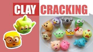 Clay Cracking Đáng Yêu  | Claypopping  | Bóp Đất Sét Nứt Thư Giãn | Minion