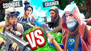 THE WALL WARS FREE FOR ALL GAMEMODE!! (Runic VS Crainer, SSundee & Flash) - Fortnite: Battle Royale