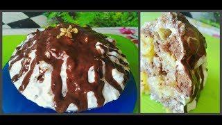Рецепт Торт Панчо с ананасом и грецкими орехами