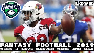 2019 Fantasy Football Advice - Live Q&A + Waiver Wire Show: Answering Your Questions