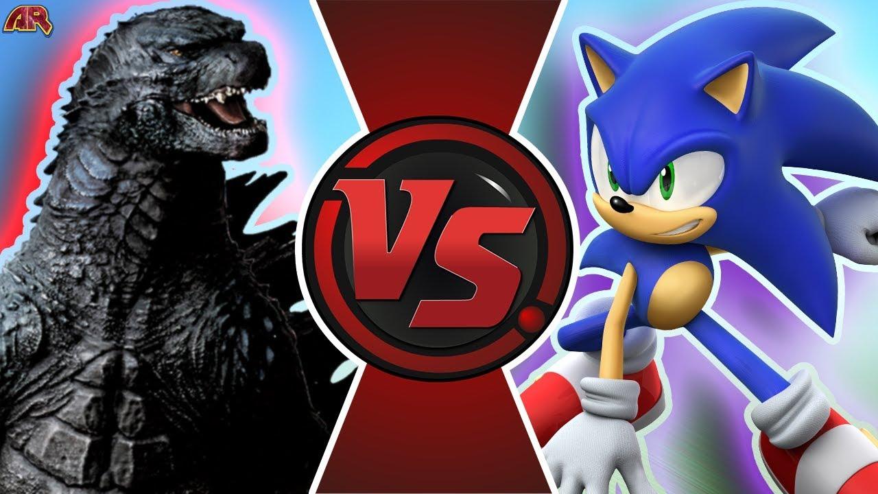 SONIC vs GODZILLA! (Godzilla vs Sonic The Hedgehog Animation) | CARTOON  FIGHT CLUB BONUS!