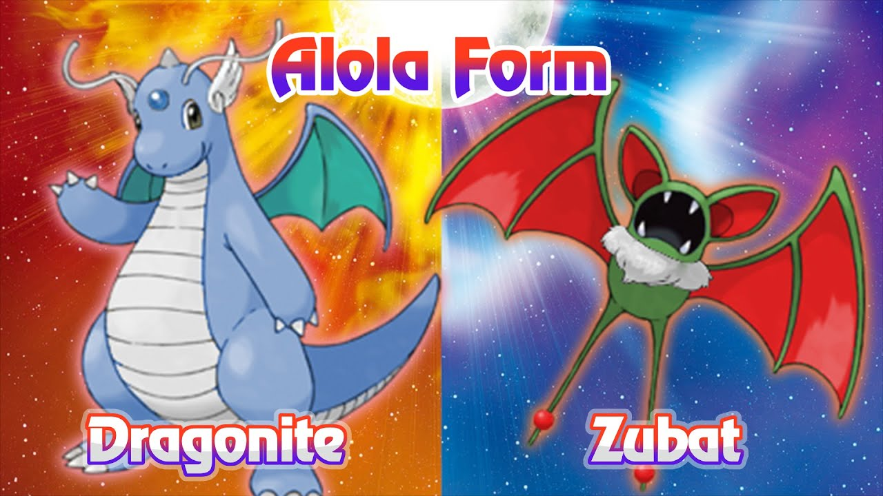 Dragonite & Zubat Potential Alola Forms - YouTube