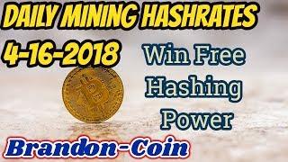 Win Free Crypto Hash Power?!? Daily Mining News 4-16-18