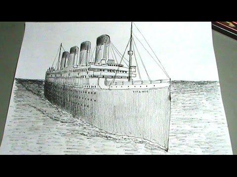 Dibuja el Titanic - Barco trasatlántico paso a paso - YouTube