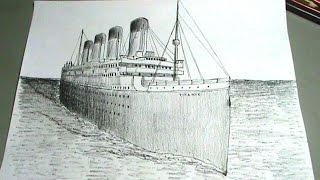 Dibuja el Titanic - Barco trasatlántico paso a paso