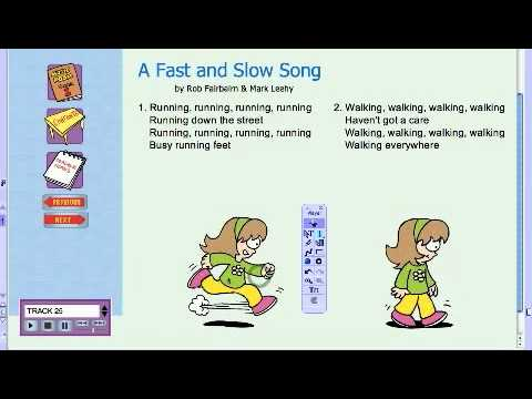 Responding through Moving - A Fast and Slow Song