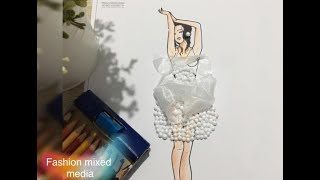 Neverland Effects : mixed media fashion design ( Tutorial )