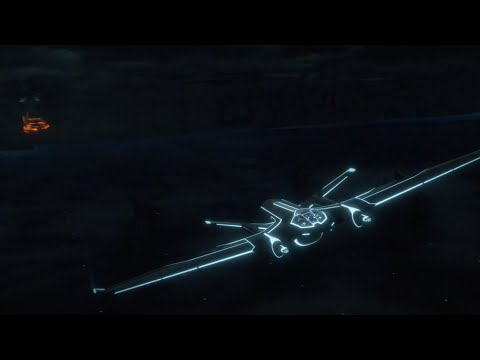 Light Jet Battle...Tron Legacy [4K]