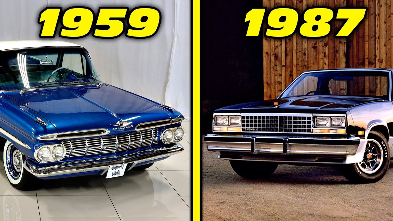 Chevrolet El Camino History Evolution 1959 1987 4k Youtube