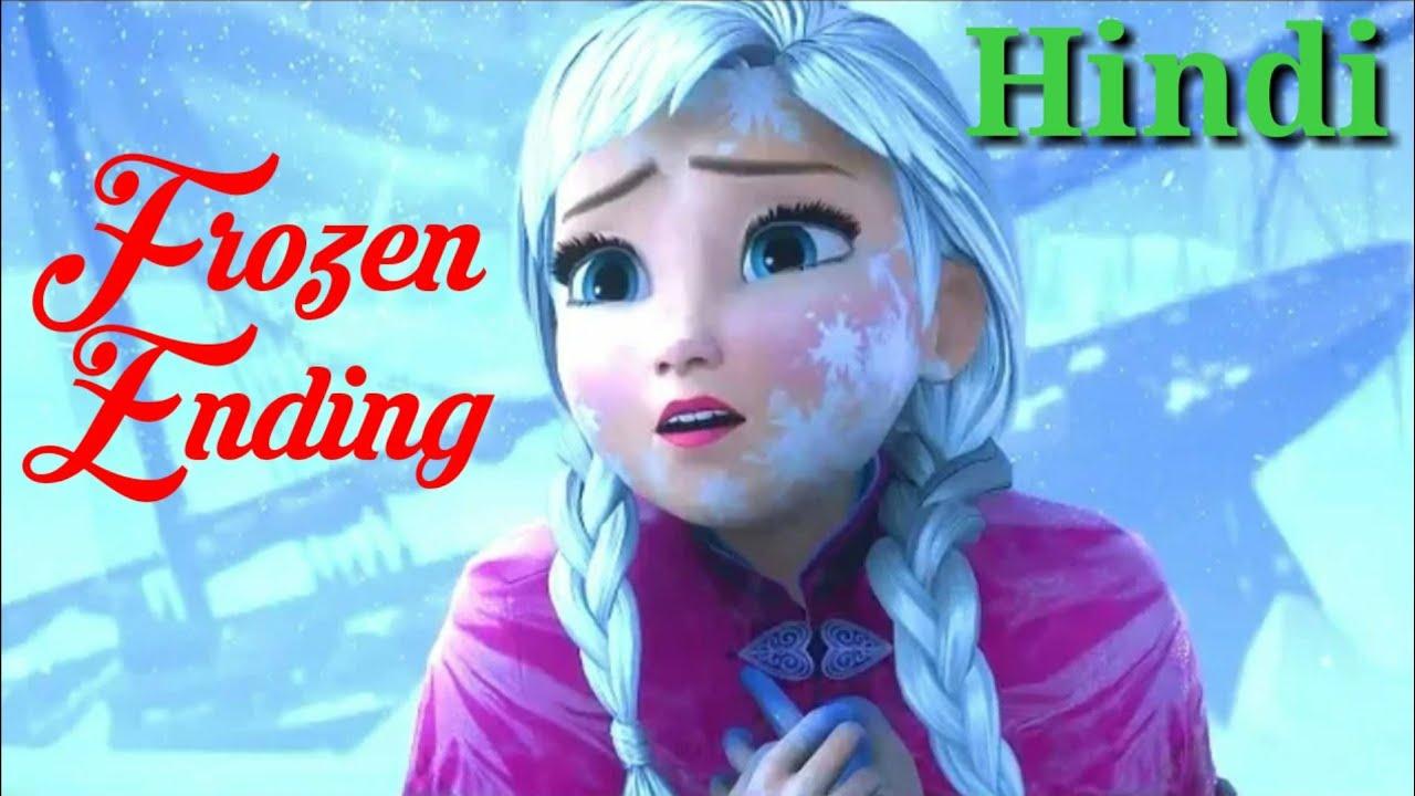 "Download Frozen Ending in Hindi (2013) - ""Fall of frozen heart""."
