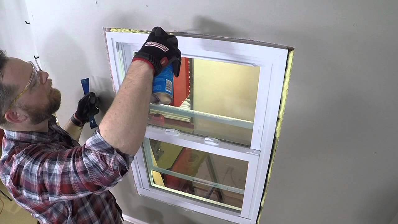 How To Insulate Windows How To Add Insulation Around Windows - Youtube