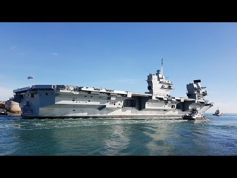 Carrier HMS Queen Elizabeth first flying operations