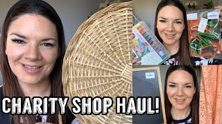 Charity Shop Haul | Thrift Haul | Home Decor Haul | Craft Haul | Kate McCabe