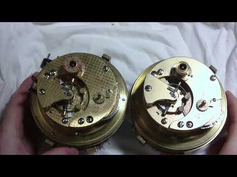 Three marine chronometers