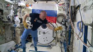 Cosmonauts Show Off Soccer Skills in Space