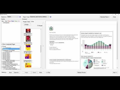 OptiMiser Residential Energy Audit Software 102: Report Generation