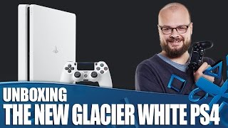 New Glacier White PS4 Unboxing(Rob gets a closer look at the new Glacier White PS4 with a 500GB hard drive. The Glacier White PS4 arrives January 24th! PlayStation Access brings you PS4, ..., 2017-01-20T12:14:56.000Z)