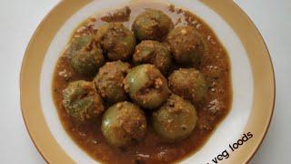 Stuff puf chickpea flour masala/Gunda fry/भरवां लसुडे की सब्जी (संभारा) की विधि/ભરેલા ગુદા નો સંભારો