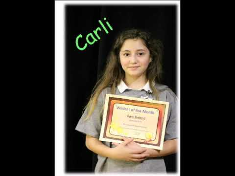 Woodland Park Magnet School's Wildcat of the Month for November 2018